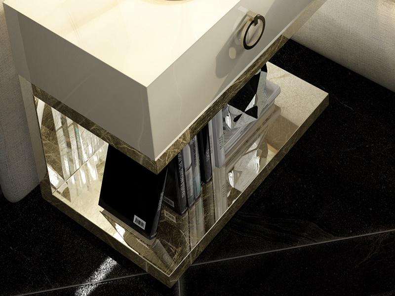 Tables de nuit � 1 tiroir - ensemble de  2 unit�s. Mod: NOOR