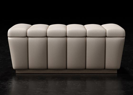 Banquette design tapissée. Mod. ZARAH