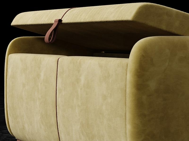Banquette design tapiss�e. Mod. GOYA