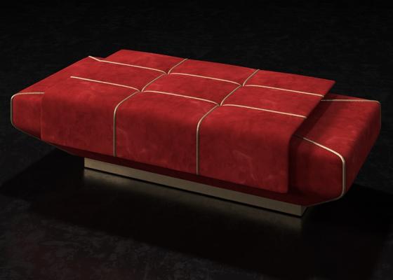 Banquette design tapissée. Mod. SOPHIA