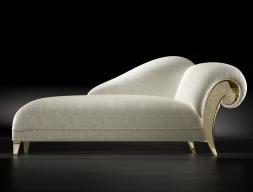 Chaise longue tapissée.Mod: DALIDA GOLD