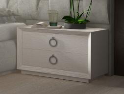 Tables de chevet en chêne à  2 tiroirs. Mod. LALEH