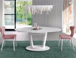 Table à manger ronde extensible. Mod. AGNES RONDE