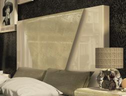 Tête de lit droite laquée avec détail au centre. Mod. ANISA