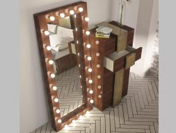 Miroir de dressing avec éclairage led. Mod: STAR XXL