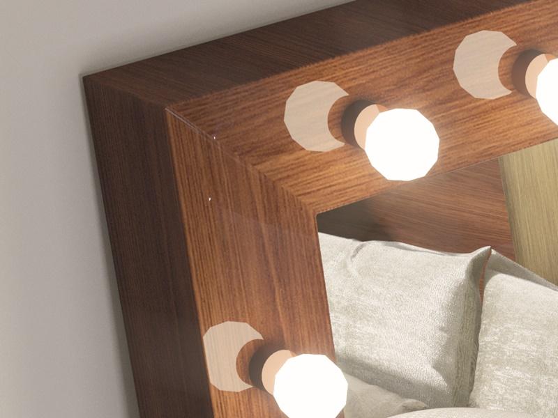 Miroir de dressing avec �clairage led. Mod: STAR XXL