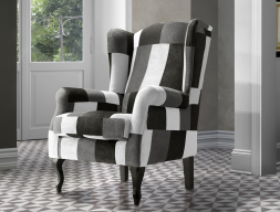 Fauteuil. Mod. BOSTON  PATCHWORK BYN