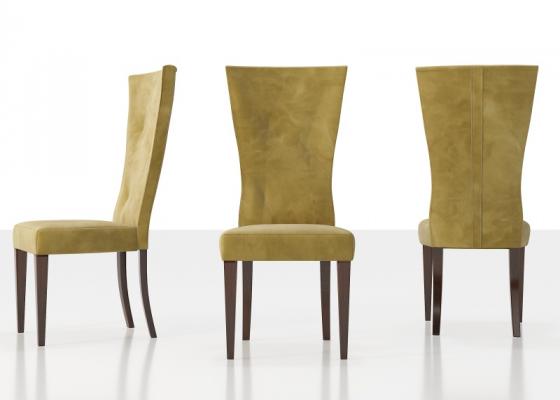 Chaise tapissée design (ensemble de 2 unités). Mod. NAUGE