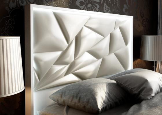 Cabecero lacado y tapizado con luz led .Mod: NAUGE LED