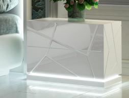 Chevets à 2 tiroirs avec éclairage led - ensemble de 2 unités. Mod. NAUGE LED