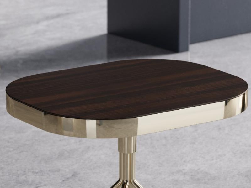 Table auxiliaire design en acier inox. Mod. BIBI