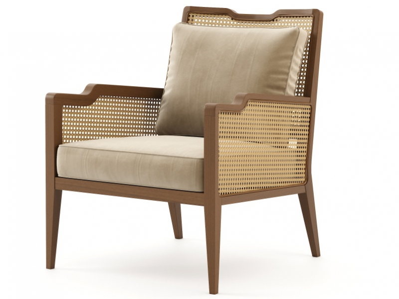Fauteuil avec cannage. Mod. LORD