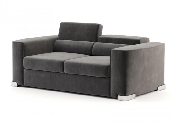 Canapé de design avec bibliothèque arrière. Mod. CHURCHILL 2p