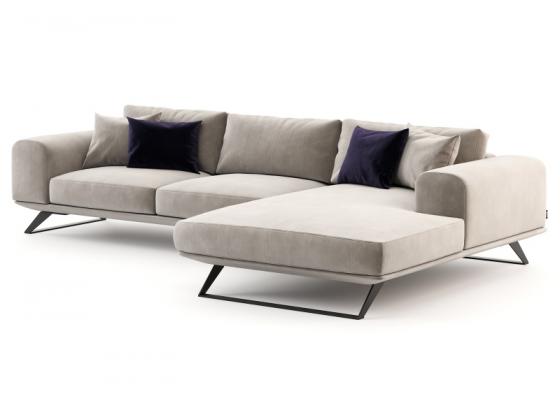 Canapé  de design avec chaise longue. Mod. VERONA