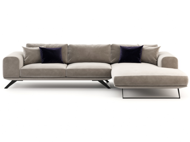 Canap�  de design avec chaise longue. Mod. VERONA