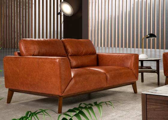 Canapé 2 places en cuir. Mod. ADELE-2P