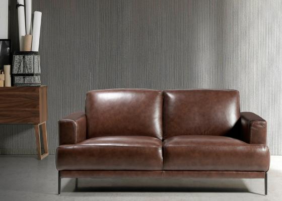 Canapé 2 places en cuir. Mod. LUXOR-2P