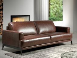 Canapé 3 places en cuir. Mod. LUXOR-3P