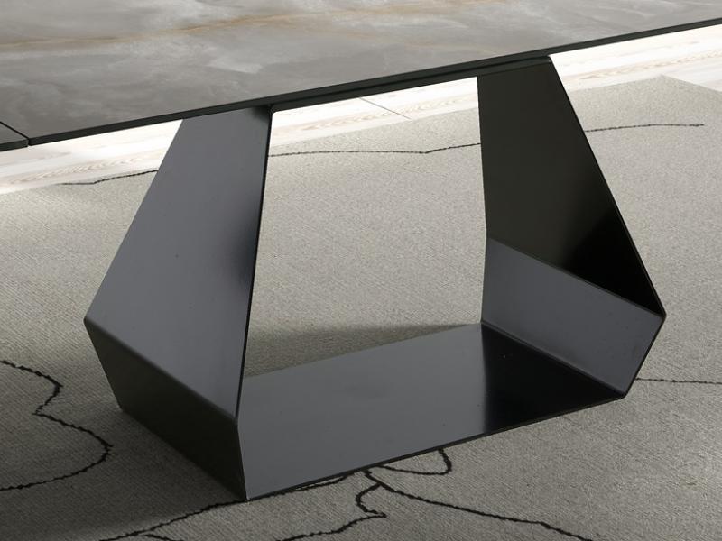 Table � manger extensible avec plateau c�ramique. Mod. ORIOL C�RAMIQUE