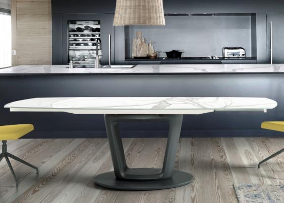 Table à manger extensible avec plateau céramique . Mod. AGNES CÉRAMIQUE