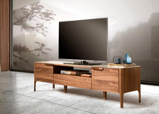 Mueble TV avec plateau en céramique. Mod. DINA/TV