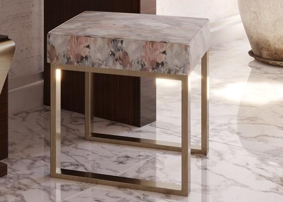 Banquette tapissée design. Mod. LINOSA