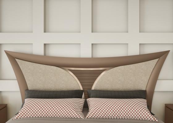 Cabecero lacado y tapizado. Mod: ARIANNA