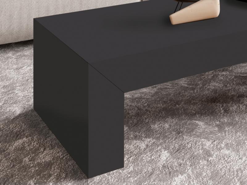 Table basse avec plateau coulissant. Mod. TOKIO LACADO