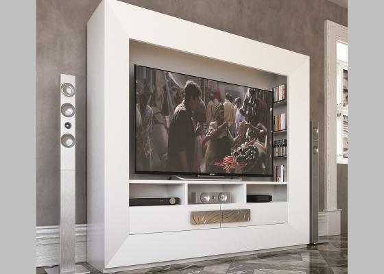 Meuble TV laqué. Mod: HAMIDA