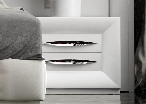 Chevets à 2 tiroirs laquées . Mod: LAPIS