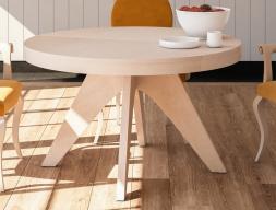 Table à manger ronde extensible. Mod. ROUND