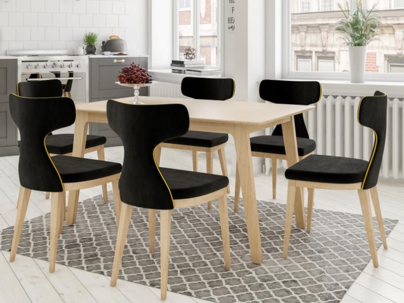 Ensemble de 2 chaises tapiss�es. Mod. VALENCIA