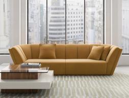 Canapé design tapissé en velours. Mod. RAYZA
