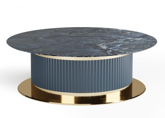 Table basse avec plateau en marbre. Mod. MONSIEUR