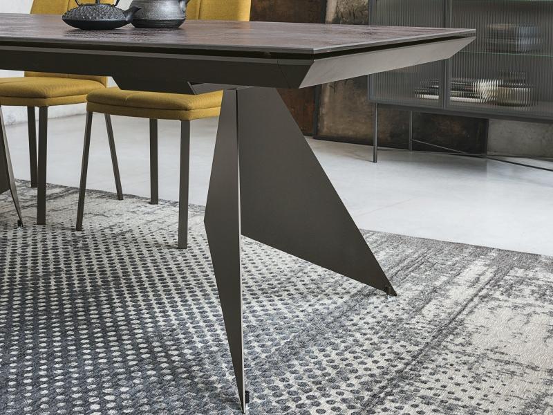 Table � manger extensible avec plateau c�ramique. Mod. VENT