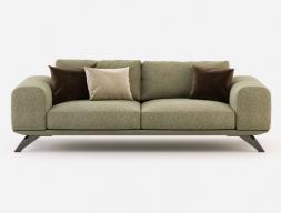 Canapé  de design avec piétement en acier inox. Mod. VERONA-3