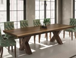 Table à manger fixe avec plateau en bois de frêne. Mod: TAVOLARA